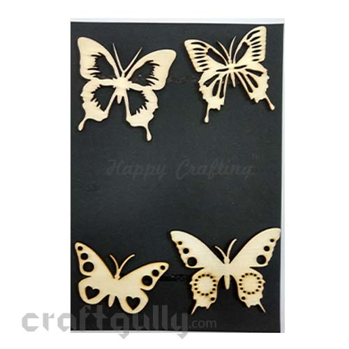Laser Cut - Wooden Elements #11 - Butterflies