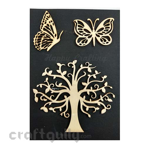 Laser Cut - Wooden Elements #12 - Tree