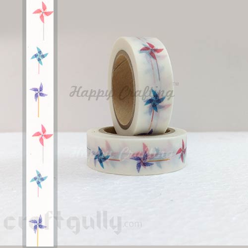 Washi Tapes 15mm -  Pattern #4 - 10 meters