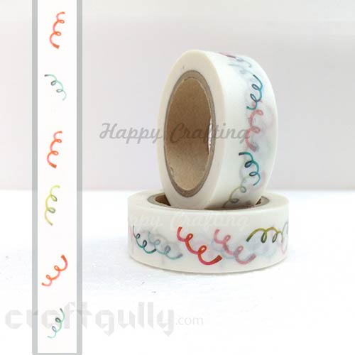 Washi Tapes 15mm -  Pattern #5 - 10 meters