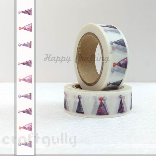 Washi Tapes 15mm -  Pattern #6 - 10 meters