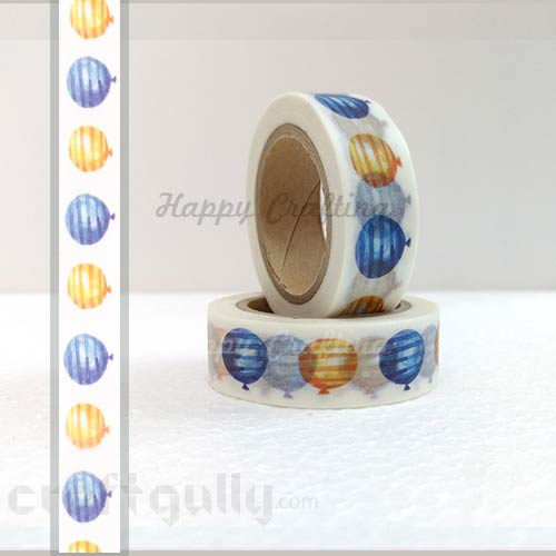Washi Tapes 15mm -  Pattern #8 - 10 meters