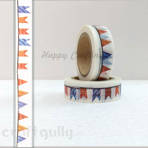 Washi Tapes 15mm -  Pattern #9 - 10 meters