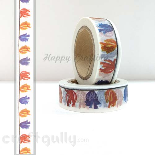 Washi Tapes 15mm -  Pattern #10 - 10 meters