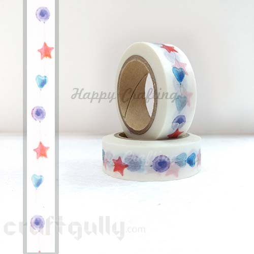 Washi Tapes 15mm -  Pattern #11 - 10 meters