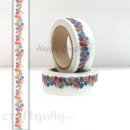 Washi Tapes 15mm -  Pattern #12 - 10 meters