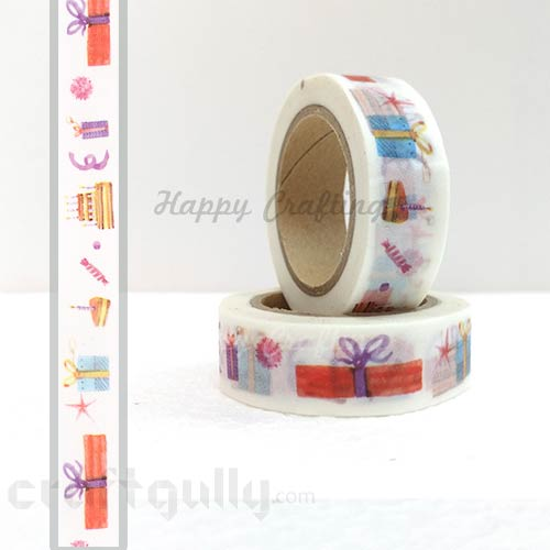 Washi Tapes 15mm -  Pattern #14 - 10 meters