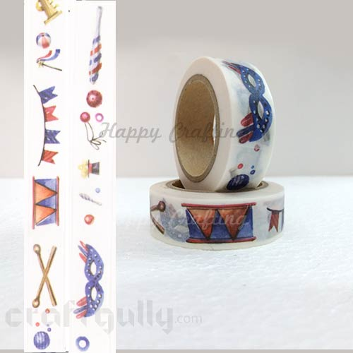 Washi Tapes 15mm -  Pattern #15 - 10 meters