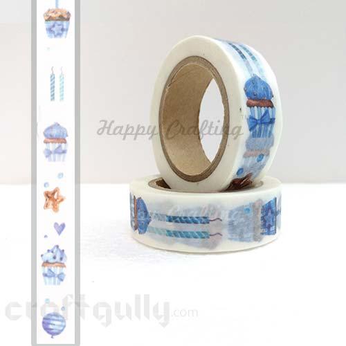 Washi Tapes 15mm -  Pattern #17 - 10 meters