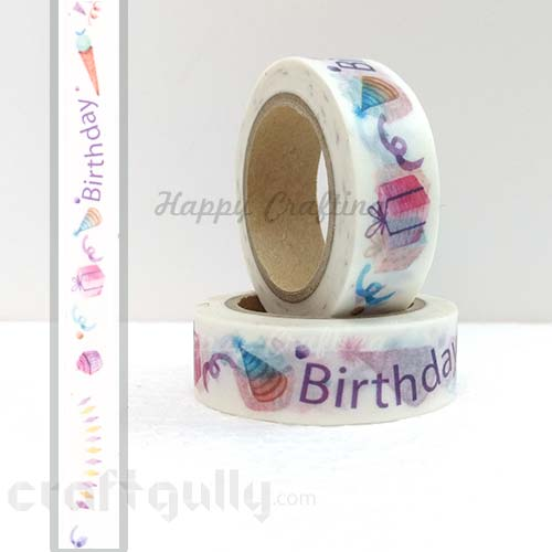 Washi Tapes 15mm -  Pattern #18 - 10 meters