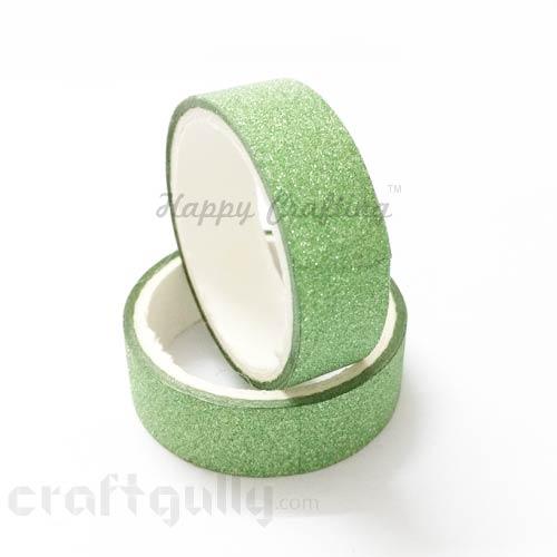Shimmer Tapes 15mm - Light Green - Pack of 1