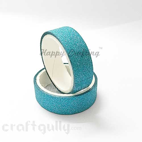 Shimmer Tapes 15mm - Turquoise - Pack of 1