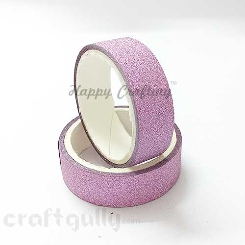 Shimmer Tapes 15mm - Pink - Pack of 1