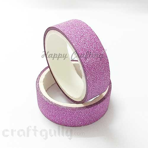Shimmer Tapes 15mm - Dark Pink - Pack of 1