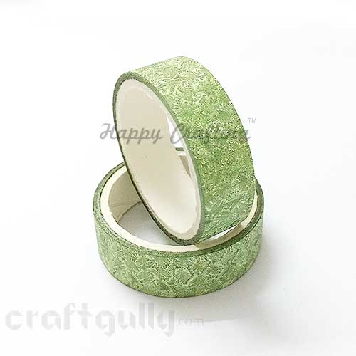 Shimmer Tapes 15mm - Patterned - Light Green - Pack of 1