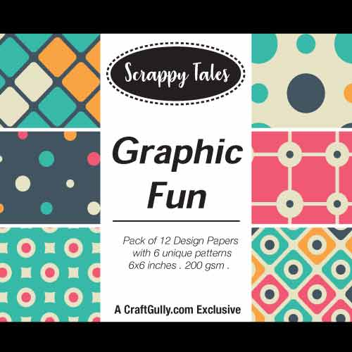 Pattern Paper 6x6 - Graphic Fun - Pack of 12