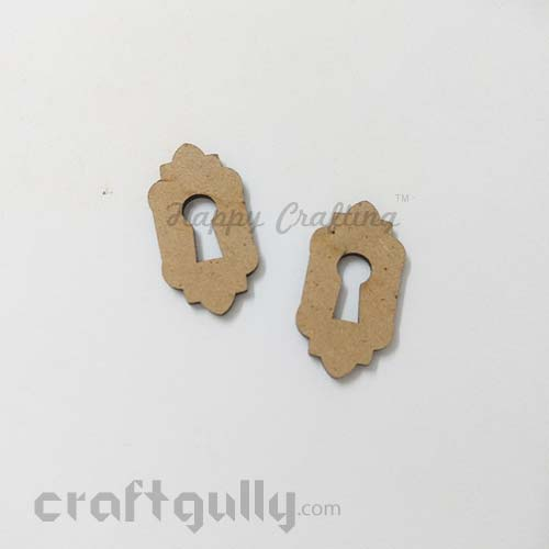 Laser Cut MDF Elements #7 - Key Hole - Pack of 2