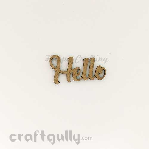 Laser Cut MDF Sentiments #7 - Hello