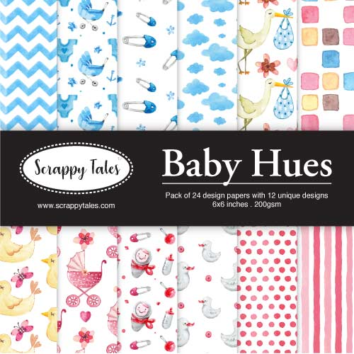 Pattern Paper 6x6 - Baby Hues - Pack of 24