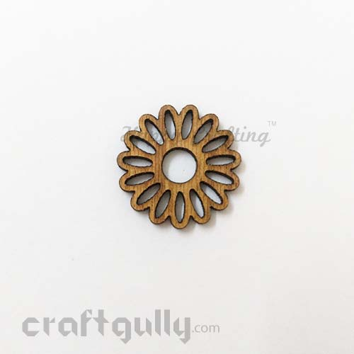 Laser Cut MDF Elements #9 - Flower - Pack of 2