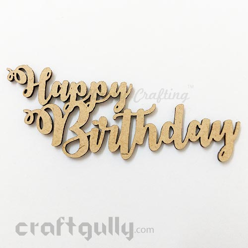 Laser Cut MDF Sentiments #11 - Happy Birthday