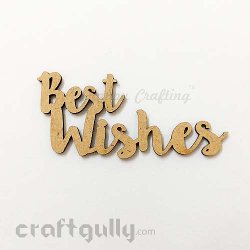 Laser Cut MDF Sentiments #10 - Best Wishes