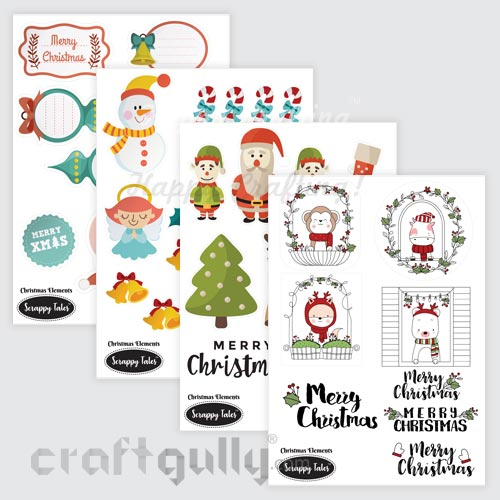 Paper Elements A5 - Christmas Elements - Pack of 4 sheets