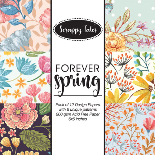 Pattern Paper 6x6 - Forever Spring - Pack of 12