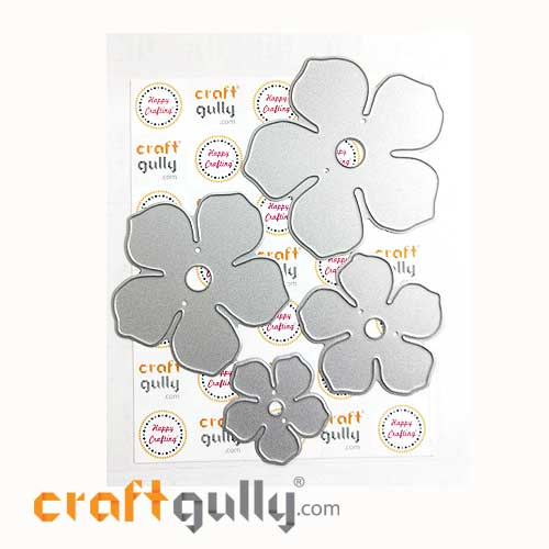 Dies - Metal - 3D Flowers #1 - Set of 4