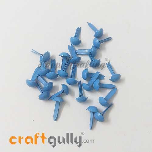 Brads 5mm Round - Blue - Pack of 25