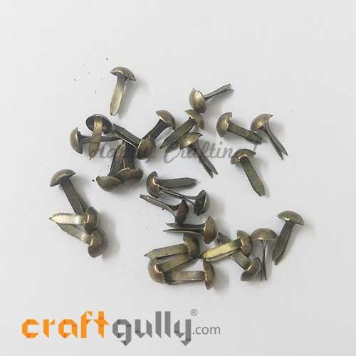 Brads 5mm Round - Metallic Bronze - Pack of 25
