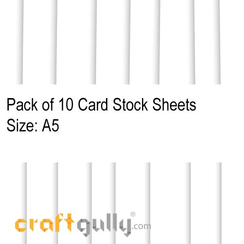 CardStock A5 - Snow White 220gsm - Pack of 10