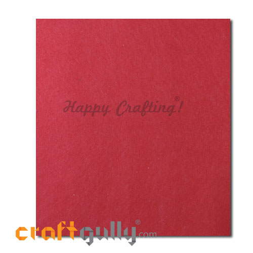 Fabric - Felt - Red - 16 inches