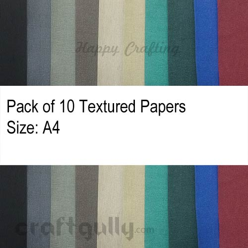Papers A4 - Texture #2 - Assorted 140gsm - Pack of 10