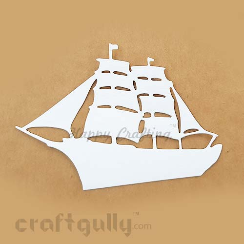 Die-Cut Shapes #5 - Ship – White - Pack of 2