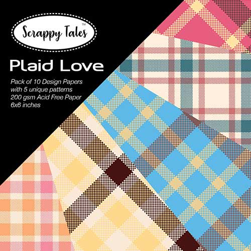 Pattern Paper 6x6 - Plaid Love - Pack of 10