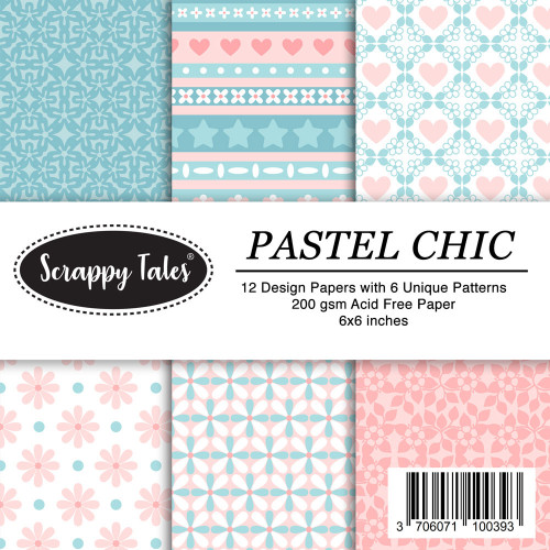 Pattern Papers 6x6 - Pastel Chic - Pack of 12