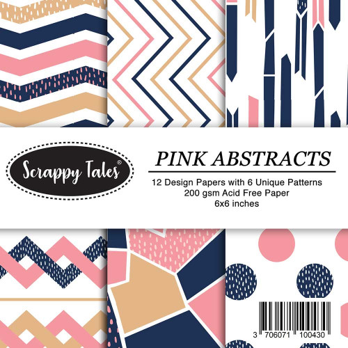 Pattern Papers 6x6 - Pink Abstracts - Pack of 12