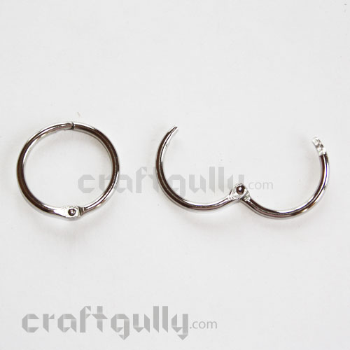 Metal Book Binding Rings - 25mm - Pack of 10