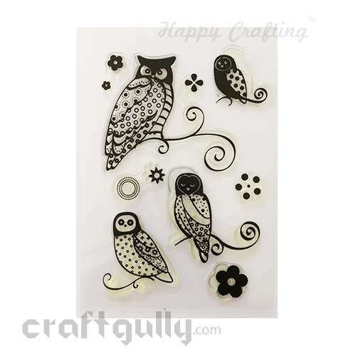 Clear Stamps #11 - 4x6 Inch - Owls