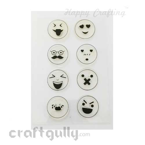 Clear Stamps #12 - 4x6 Inch - Emoji