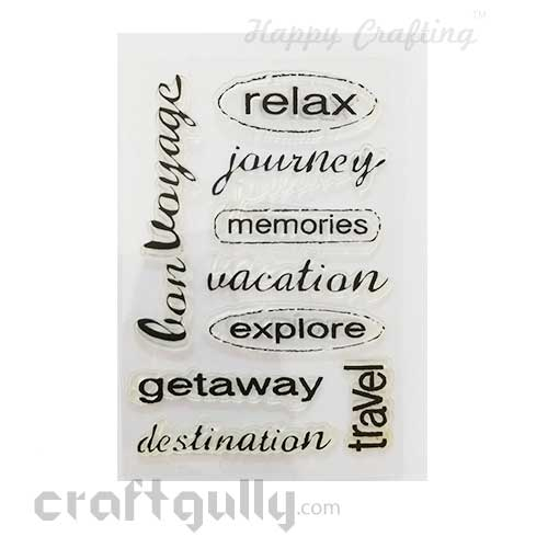 Clear Stamps #13 - 4x6 Inch - Sentiments Travel