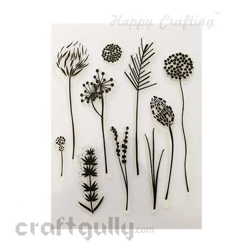 Clear Stamps #17 - 6x8 Inch - Dandelions & More