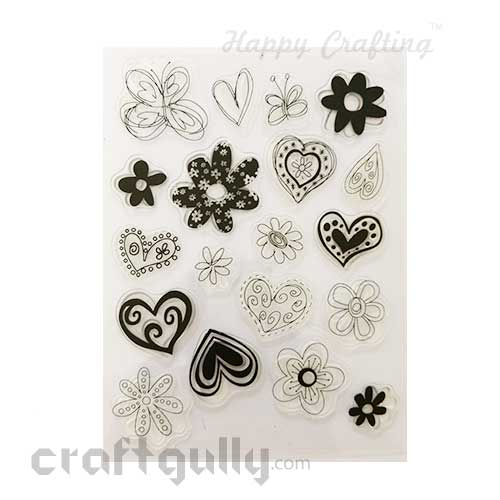 Clear Stamps #21 - 6x8 Inch - Hearts