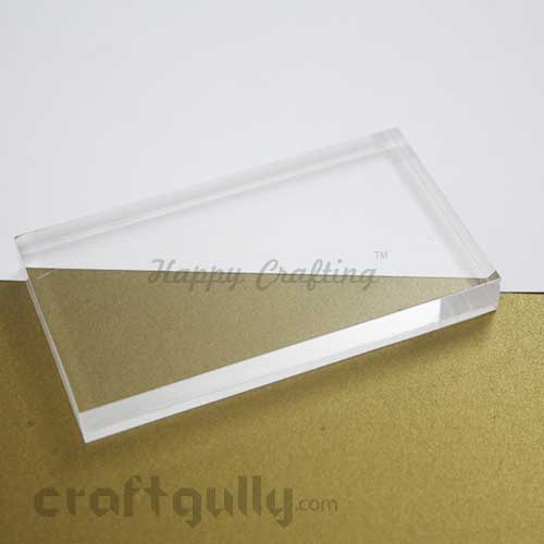 Stamping Block - Acrylic Clear - Rectangle 4 x 3 inches